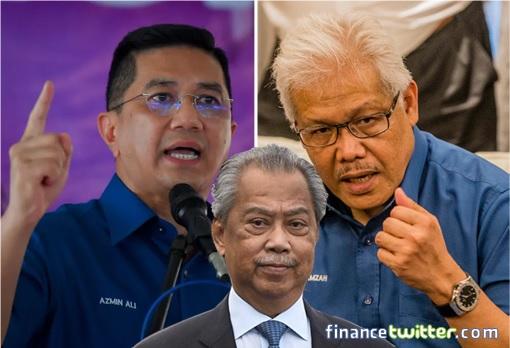 Perikatan Nasional Civil War - Mahiaddin alias Muhyiddin, Azmin Ali, Hamzah Zainudin