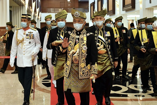 Agong King - Arrival For Opening of Parliament