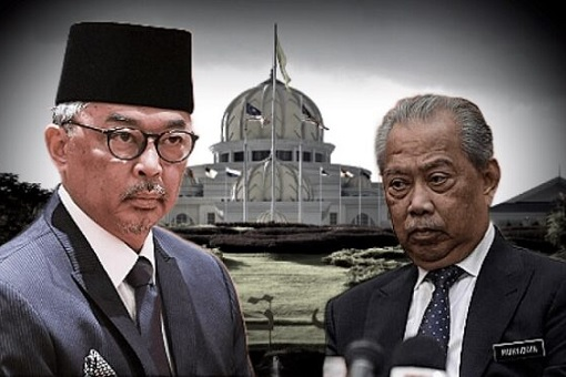 Agong King Sultan Abdullah vs Prime Minister Muhyiddin Yassin