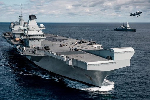 British Royal Navy HMS Queen Elizabeth Aircraft Carrier