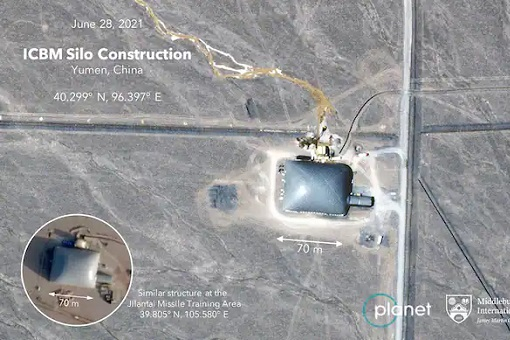 China Nuclear Missile Sino - Silos Under Construction - Satellite Image