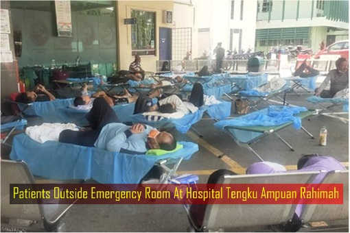 Patients Outside Emergency Room At Hospital Tengku Ampuan Rahimah HTAR