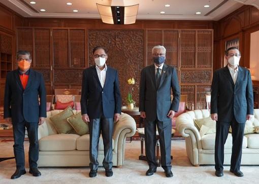 Bipartisan Consensus - PM Ismail Sabri and Pakatan Harapan Leaders - Anwar Ibrahim, Mat Sabu, Lim Guan Eng