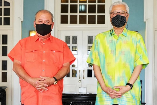 Johor Sultan Ibrahim and Ismail Sabri