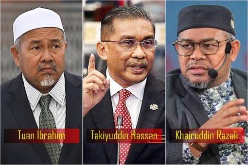 PAS Islamist Party - Tuan Ibrahim, Takiyuddin Hassan, Khairuddin Razali