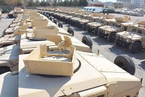 US Withdraw from Afghanistan - Left Behind Equipments and Weapons - Humvees