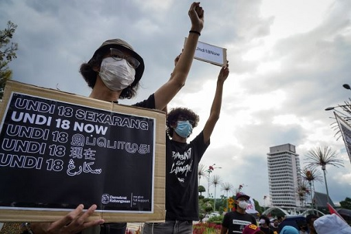 Undi 18 - Voting Age 18 Protest