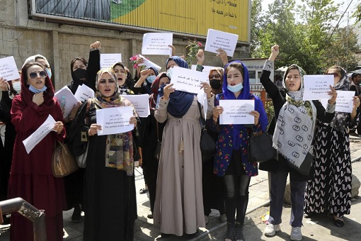 Afghanistan Women Protest - Demonstrate and Demand Recognition
