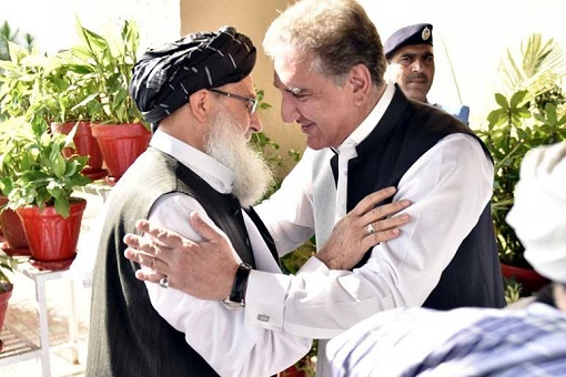 Afghanistan and Pakistan Officials Meet and Hug