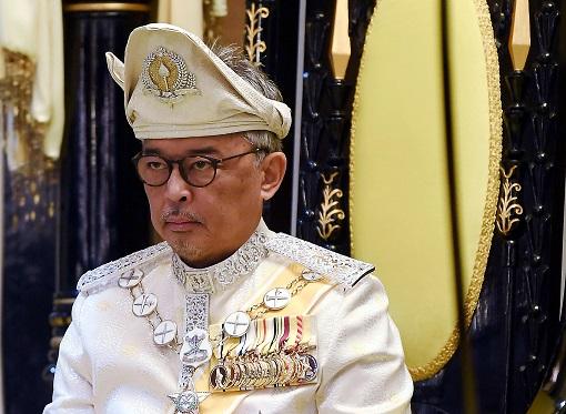 Agong King Sultan Abdullah - White