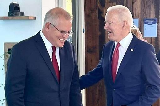 Australian Prime Minister Scott Morrison and US President Joe Biden