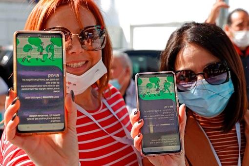 Coronavirus - Israel Green Pass Covid-19 Vaccination App - Travel