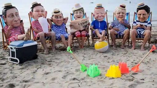 G7 Summit Cornwall Britain - Beach