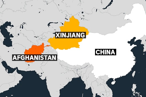 Map - Afghanistan, China and Xinjiang