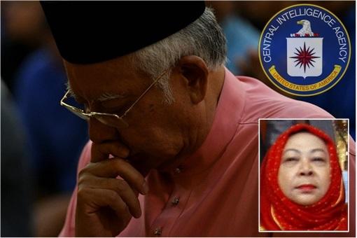 Najib Razak and Spy Chief Hasanah Abdul Hamid - CIA