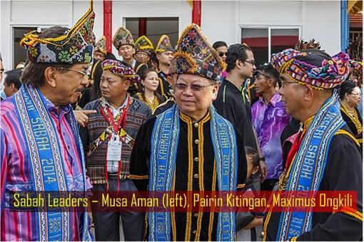 Sabah Leaders – Musa Aman, Pairin Kitingan, Maximus Ongkili