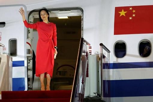 Sabrina Meng Wanzhou - CFO of Huawei Technologies - Arrives In China