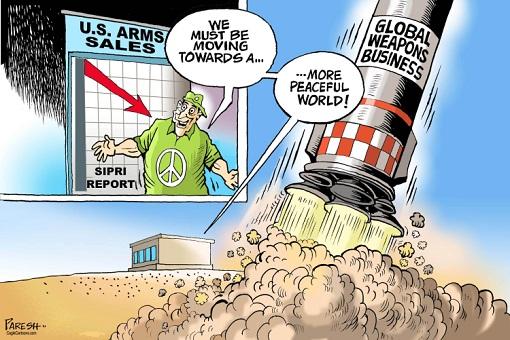 US Arms Sales - Cartoon