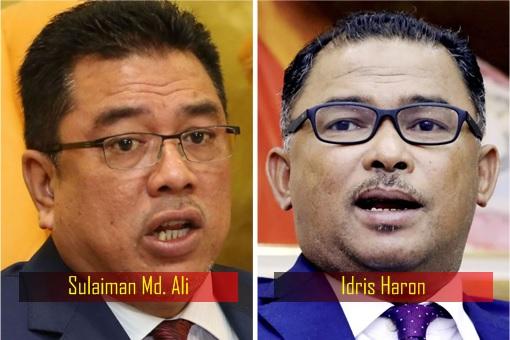 Melaka Chief Minister - Sulaiman Md Ali and Idris Haron