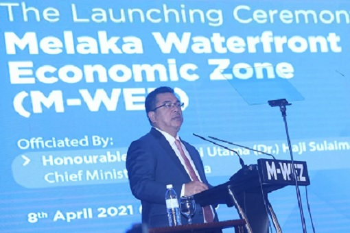 Melaka Waterfront Economic Zone - M-WEZ - Launching by Chief Minister Sulaiman