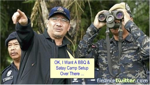 Sabah Invasion - Hishammuddin Hussein binoculars 2
