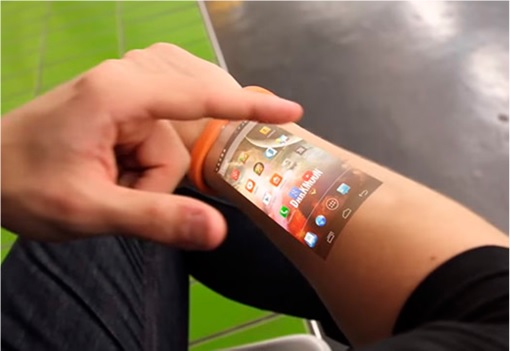 Cicret Bracelet Touchscreen On Arm 1