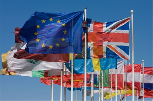 European Union and Members Flags