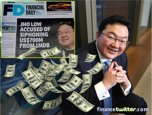 Jho Low - Money Dropping - TheEdge Siphoning USD700 Million