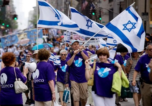 Jews Waving Israel Flags
