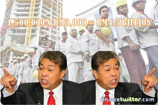 Importing Bangladesh Workers - Zahid Hamidi Flip Flop - 1,500,000 X RM3,000 - RM4.5 Billion