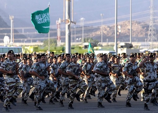 Operation Northern Thunder Military Exercise - Saudi Army Marching