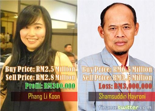 Phang Li Koon and Shamsuddin Hayroni - Profit and Loss Comparison