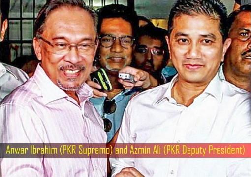 Anwar Ibrahim (PKR Supremo) and Azmin Ali (PKR Deputy President)
