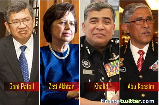1MDB Scandal - Gani Patail, Zeti Akhtar, Khalid Abu Bakar, Abu Kassim