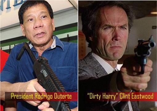 "President Rodrigo Duterte and ""Dirty Harry"" Clint Eastwood"