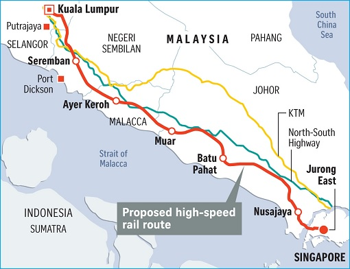 Singapore-Kuala Lumpur HSR High-Speed Rail Project - Distance and Stations