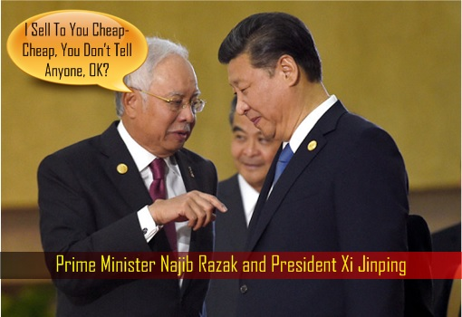 prime-minister-najib-razak-and-president-xi-jinping-sell-assets-cheaply-to-china