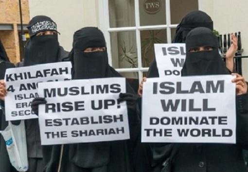 Kandidatkinja s liste Desne lige : Otkako su muškarci ženama dali pravo glasa svijet je otišao kvragu - Page 10 Muslims-Protesters-Islam-Will-Dominate-The-World