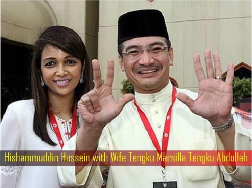 Hishammuddin Hussein with Wife Tengku Marsilla Tengku Abdullah