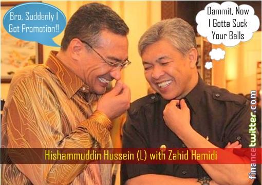 Hishammuddin Hussein with Zahid Hamidi - Promotion