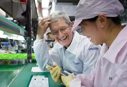 Apple CEO Tim Cook Visits China Plant