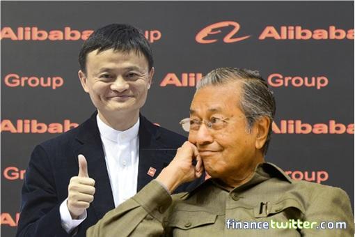 Alibaba Jack Ma Thumb Up For Mahathir Mohamad