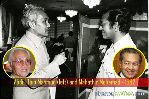 Sarawak Chief Minister Abdul Taib Mahmud and Prime Minister Mahathir Mohamad