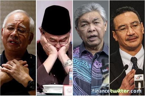 Four UMNO Defence Minister - Najib, Badawi, Zahid, Hishammuddin