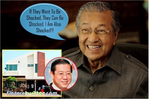 Image result for Penang Bungalow Scandal - Lim Guan Eng - Mahathir Shocked Tongue-in-Cheek