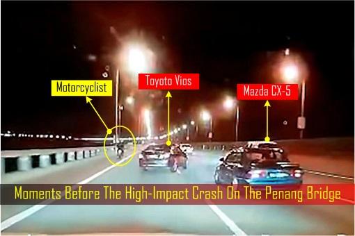 Moments Before The High-Impact Crash On The Penang Bridge