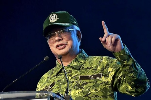 Najib Razak - Wearing Military Fatigue Uniform