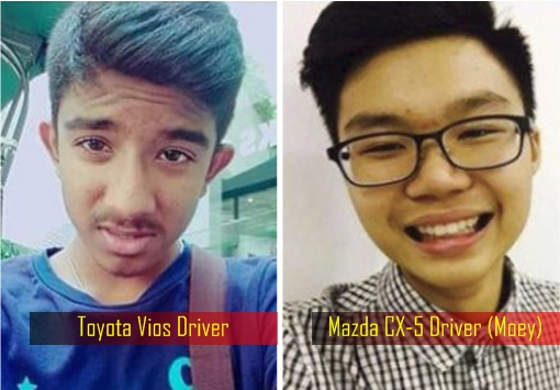 Penang Bridge Car Crash - Toyota Vios and Mazda CX5 - Drivers