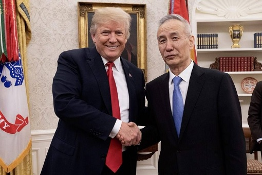 China Vice-Premier Liu He Meets US President Donald Trump
