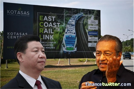 ECRL Project - PM Mahathir and President Xi Jinping